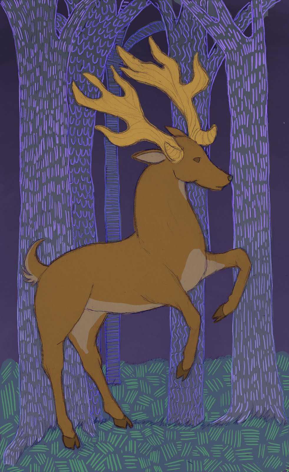 Rearing Buck