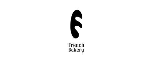 "So simple but effective use of the letter ""f"" as frenchbread!"
