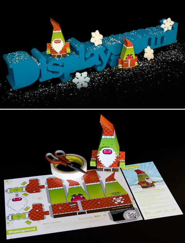 "Bored of sending out ""typical"" corporate christmas cards, UK design company - Display Ground sent out ""construct-it-yourself"" Christmas Mailers instead. (wish they'd have sent me one! I want one of these to make!!)"