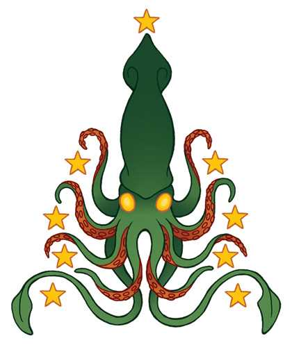 "Nothing says ""Christmas"" quite like a Giant Squid!!! Awesome!"
