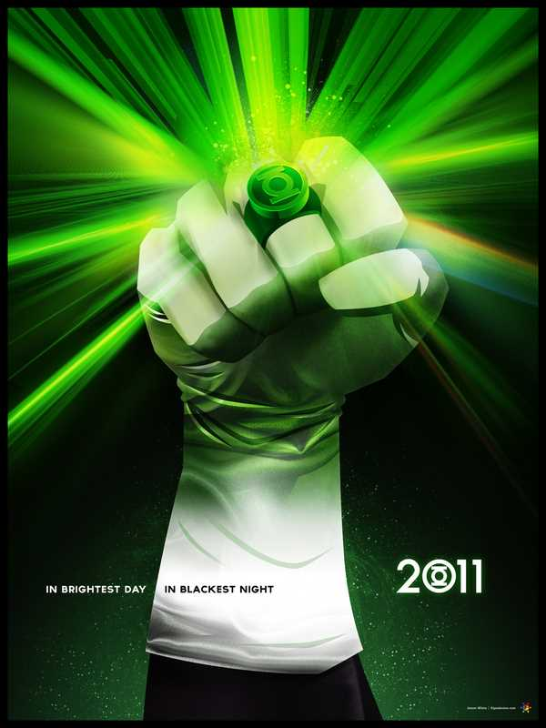 I've featured James White's work before in this blog - he is such a skileed digital designer. His version of the forthcoming Green Lantern movie poster is tremondous!