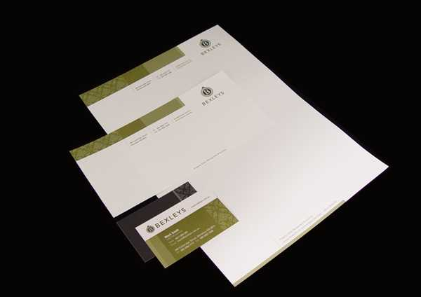 The olive and black color scheme make this stationery look really classy and sophisticated - beautiful design from Katja Lambert