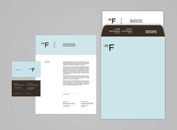 Love the color choices and branding on this stationery design from Mr Face.