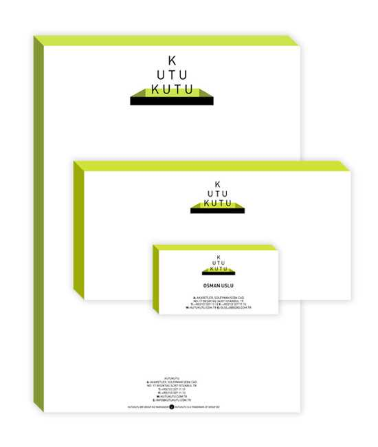 Another super letterhead design from Orgut - The box perspective effect is really effective