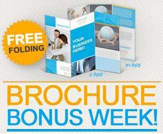 Brochure Bonus Week