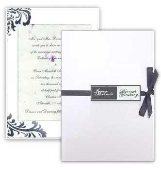 Mini business card wedding invitation