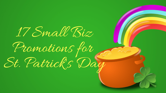 St Patricks Day promos for small businesses