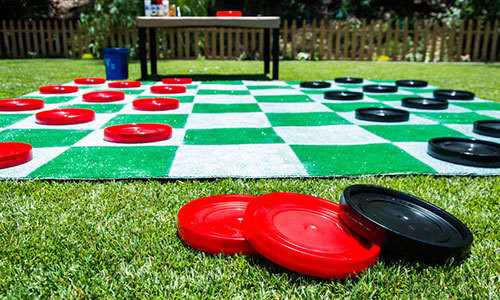 Giant chess game-coasters