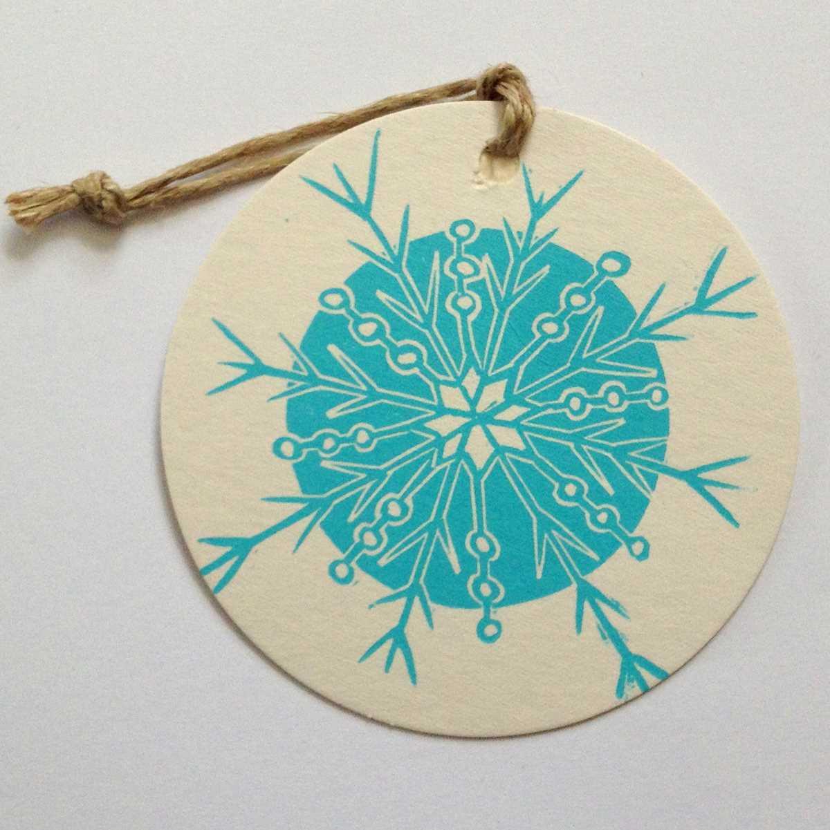 Snowflake coaster