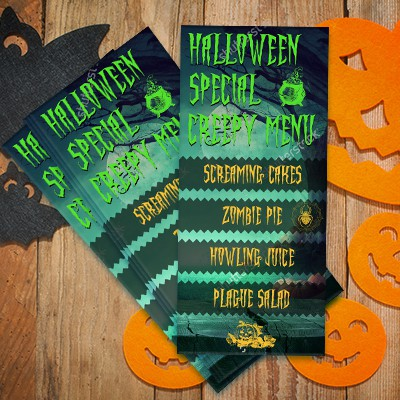 Halloween rack cards