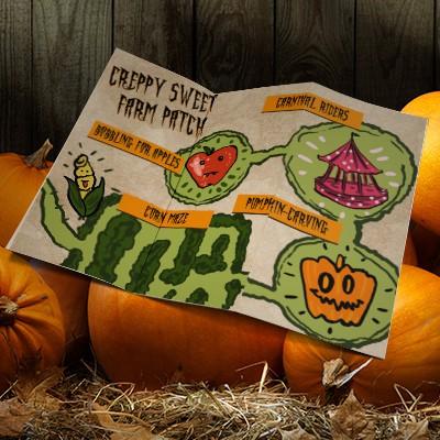 Halloween brochure maps