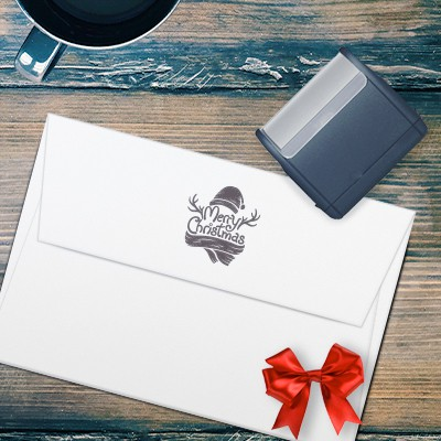 Holiday self-inking stamp