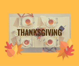 Thanksgiving table cards