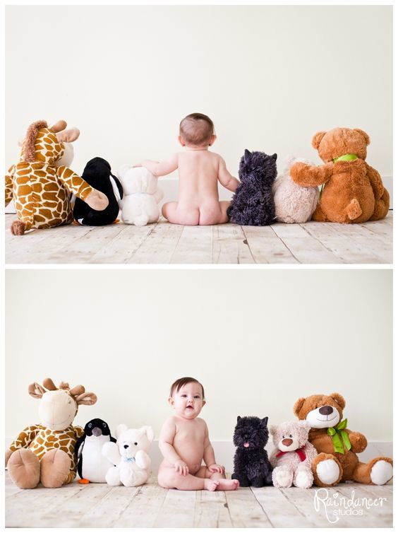 Baby with Stuff Animals