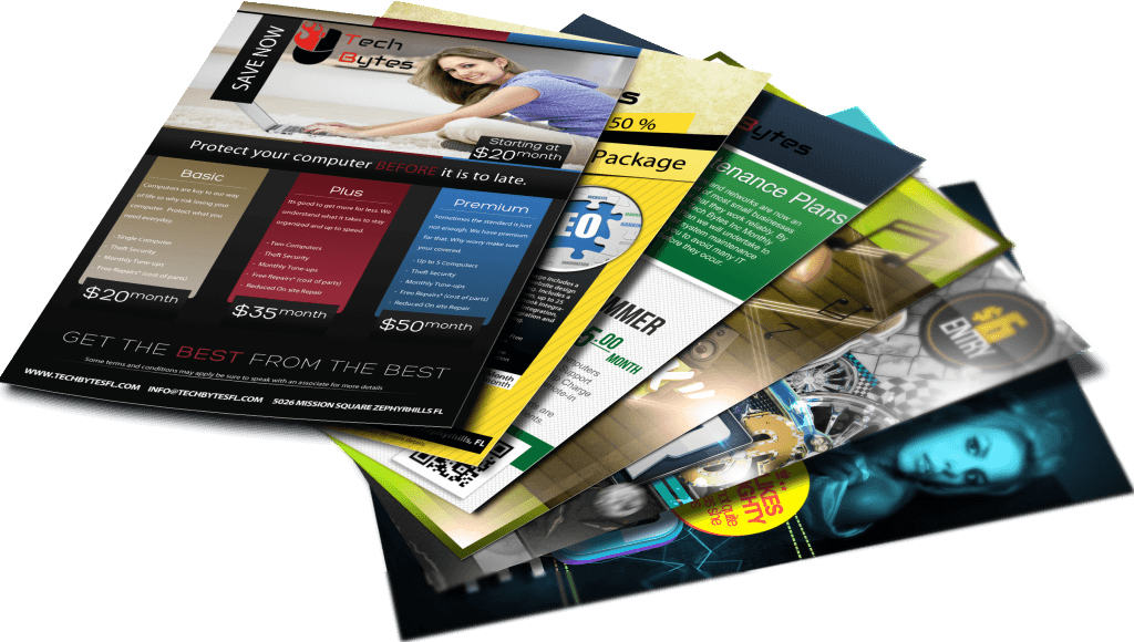 Graphic business flyer