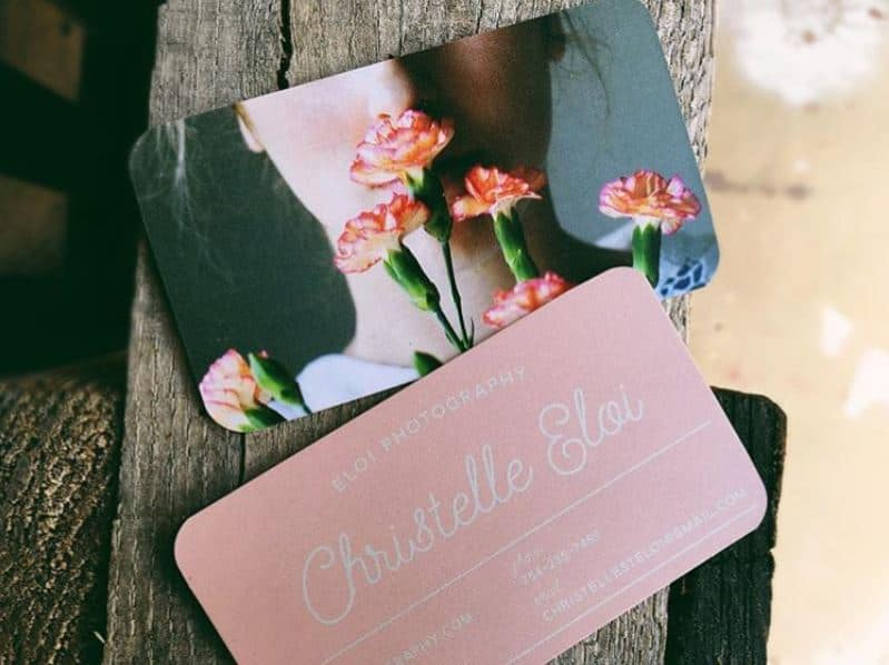Photographer Christelle Eloi business card