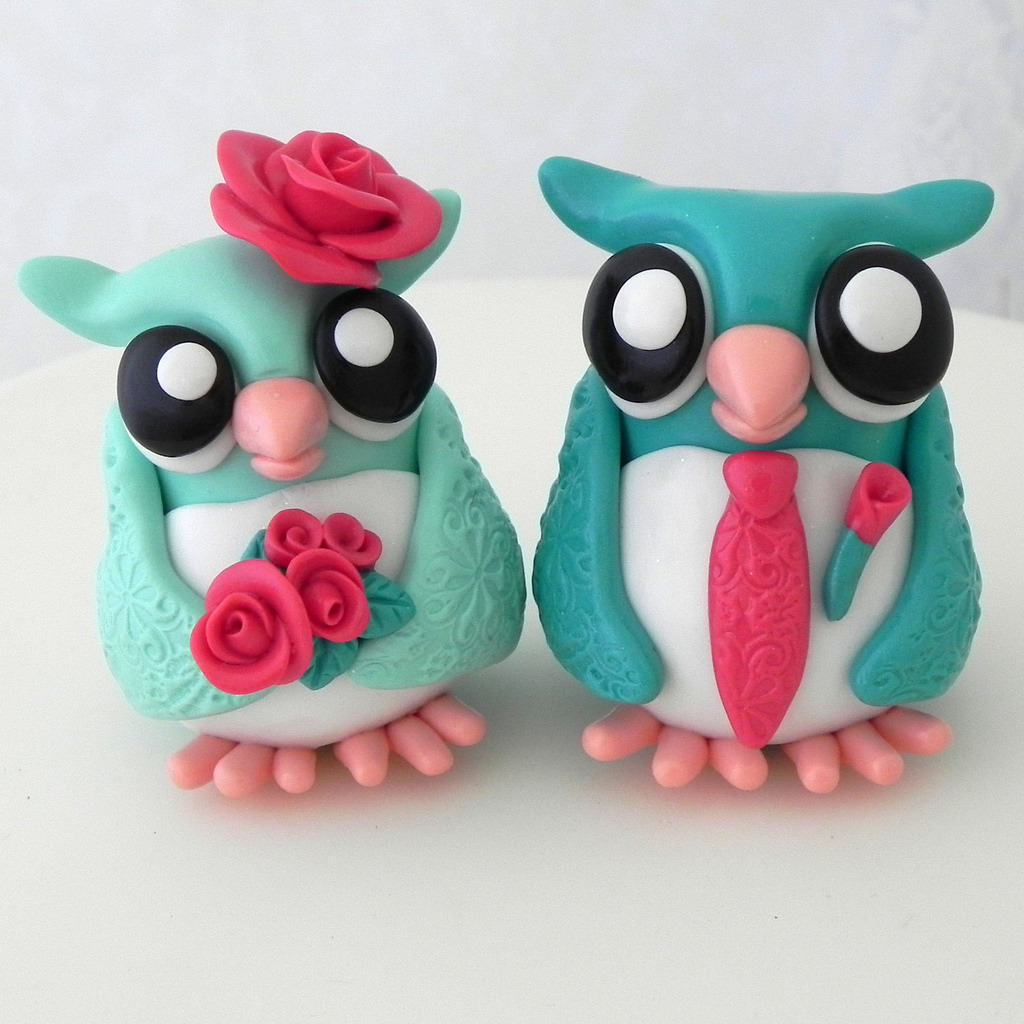 owl wedding toppers