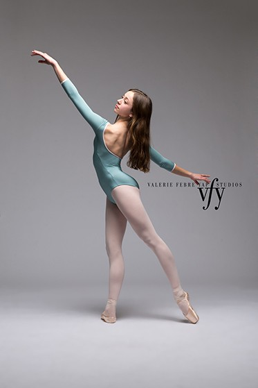 A Valerie Febre-Rap Studio image of a graceful ballet dancer