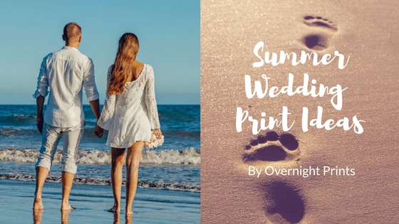 Summer wedding print ideas by Overnight Prints