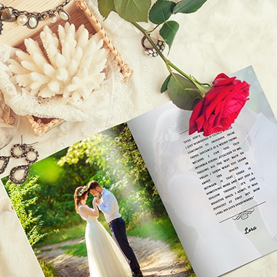 Beach wedding booklet