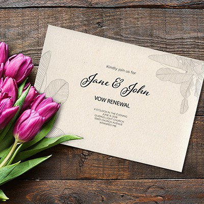 Vow Renewal Invitation