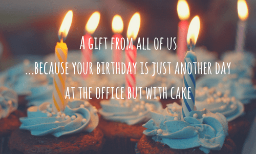 Office birthday wish