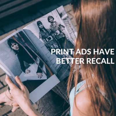 Print ads have better recall