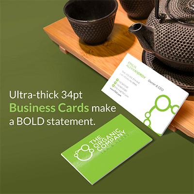 Ultra-thick business cards