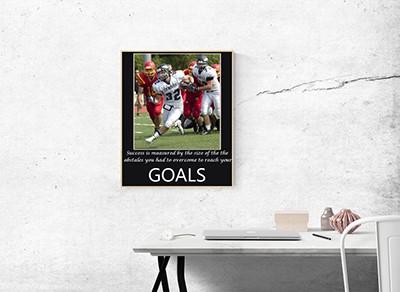 Football motivational poster