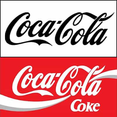 Coca-Cola logos before and after 1969.