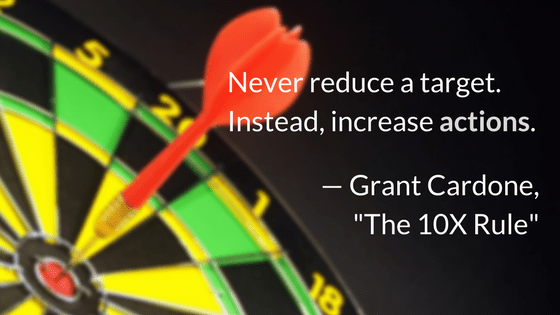 Never reduce a target. Instead, increase actions.