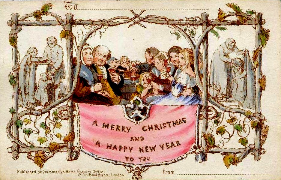 Image of first commercial Christmas card