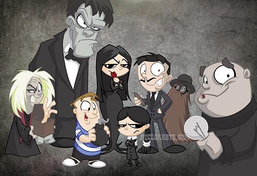 Addams Family cartoon