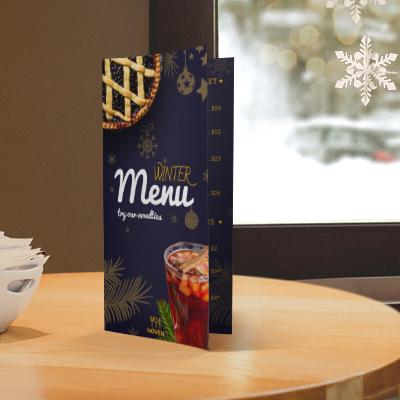 Seasonal food menu