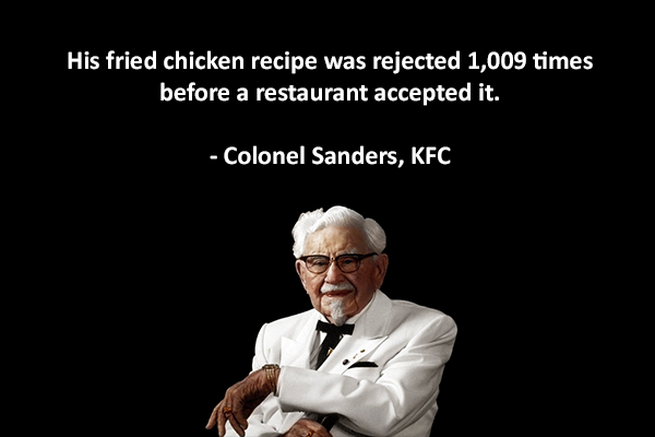 Colonel Sanders quote on perseverance