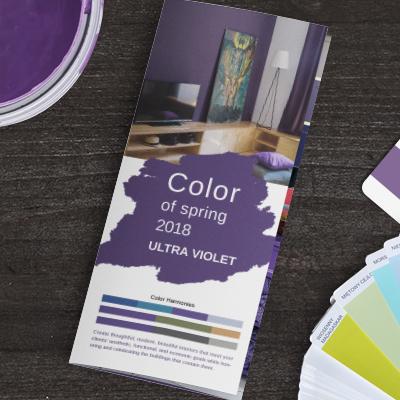 Spring color brochure promotion
