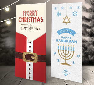 Holiday rack cards