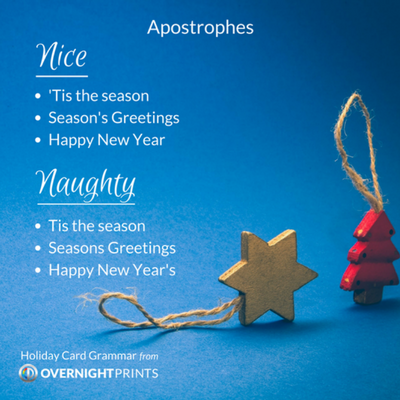 Holiday Card Grammar - Apostrophes