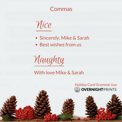Holiday Card Grammar - Comma