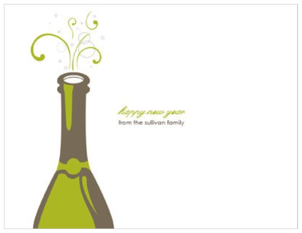 Pop the Cork New Years Party 4x5.5 postcard invitation template