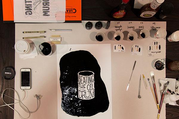 Katie King Rumford oil drum art