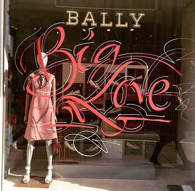 Store window letter by Paul Antonio