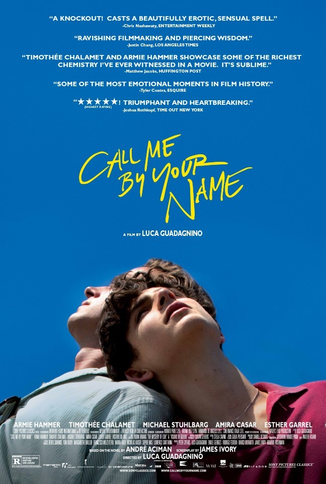 Call Me By Your Name 2017 movie poster