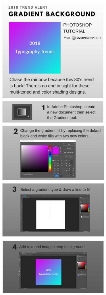 Gradient Background Photoshop Tutorial