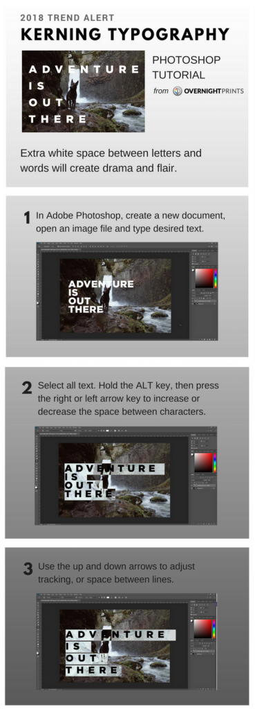 Kerning Typography Photoshop Tutorial