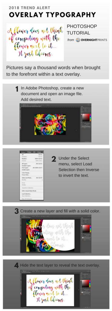 Overlay Typography Photoshop Tutorial