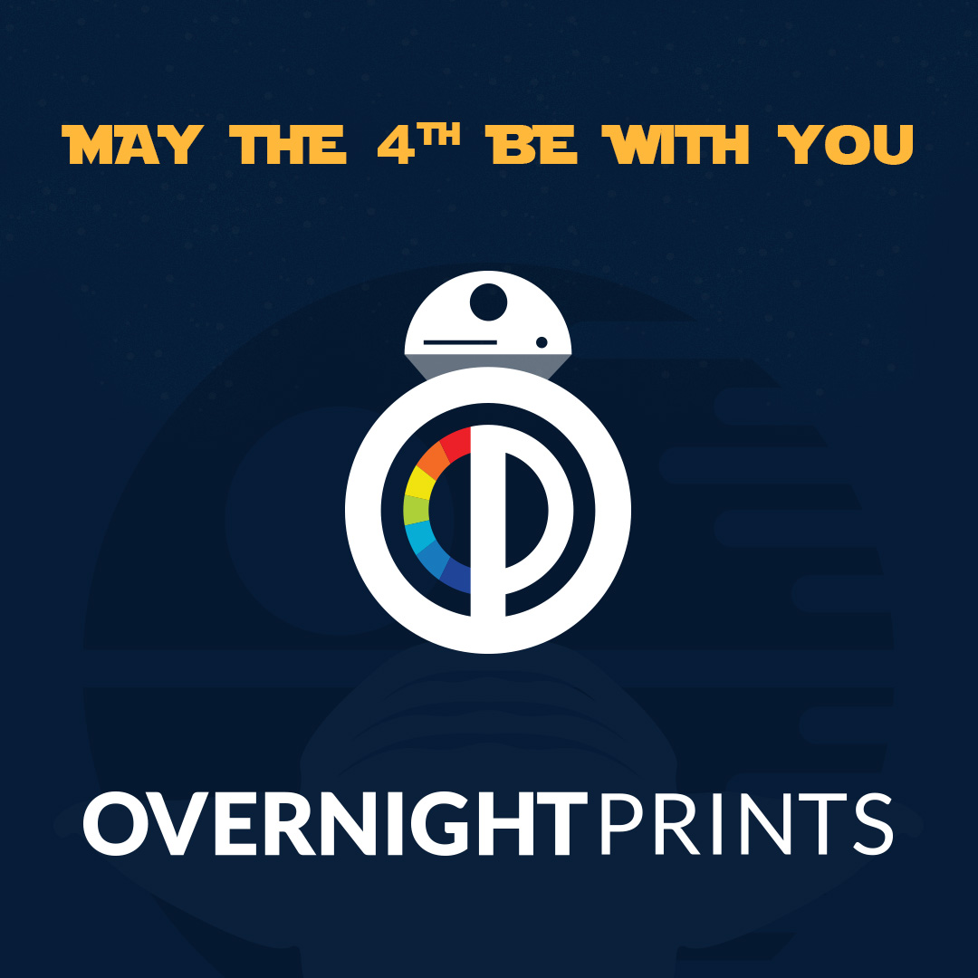 May the 4th Overnight Prints Logo Redesign Idea