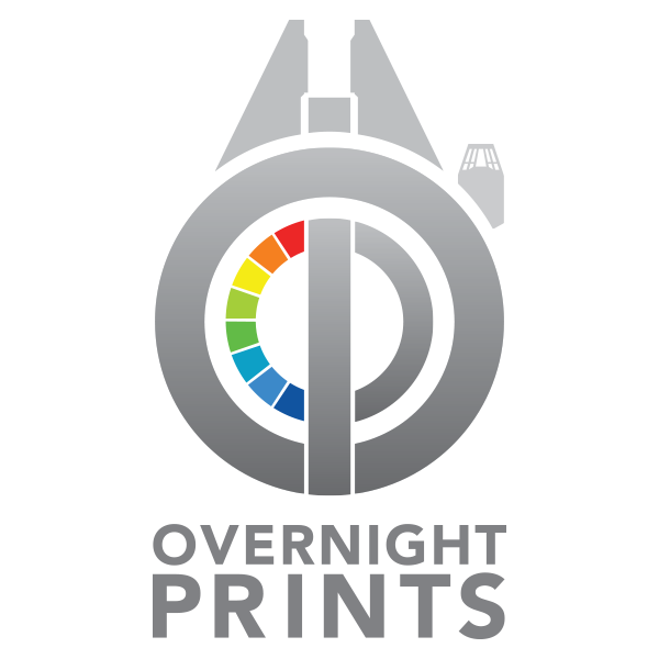 overnight prints may the forth holiday logo design