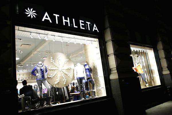 Athleta, companies moving offline