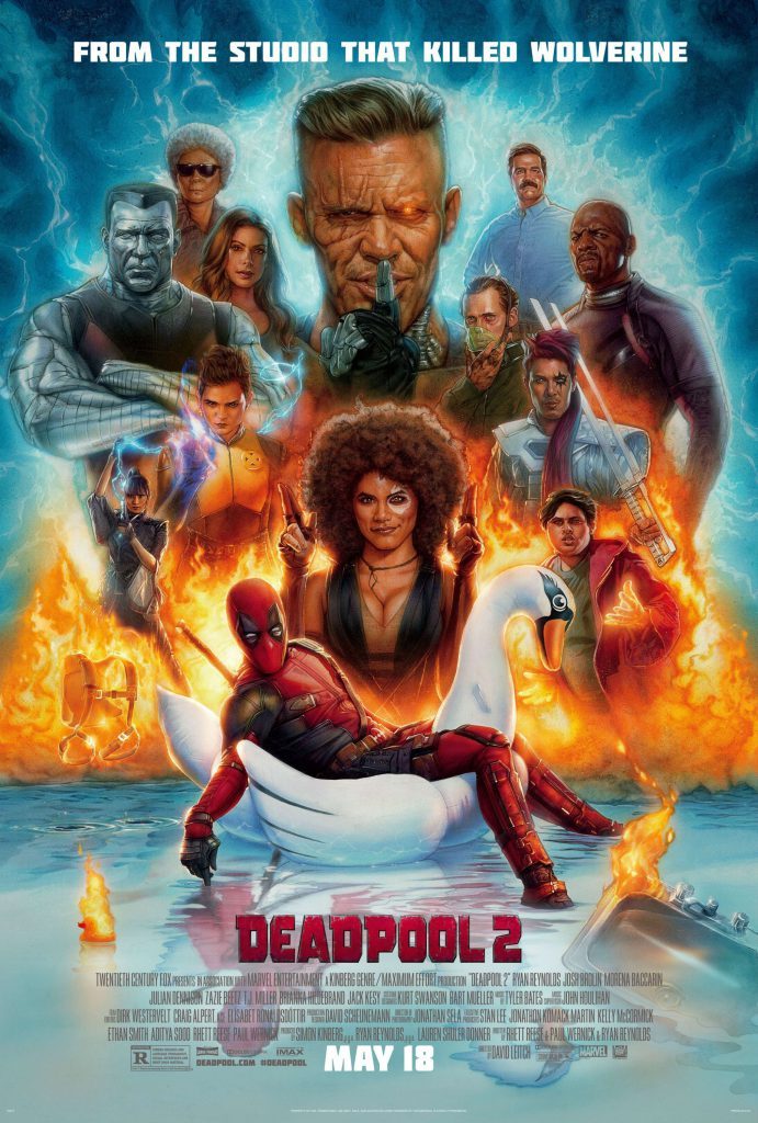 deadpool 2 - 2018 poster fullhd - 4k 1080p overnightprints